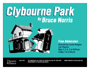 Clybourne Park by University of Texas Theatre & Dance