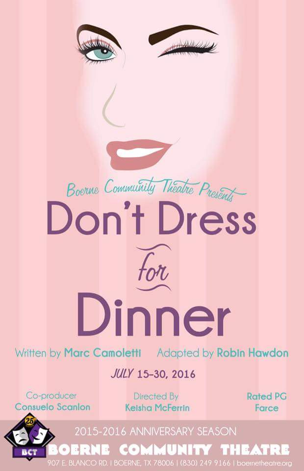 Don't Dress for Dinner by Boerne Community Theatre