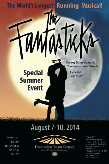Audition for The Fantasticks, by Fredericksburg Theater Company