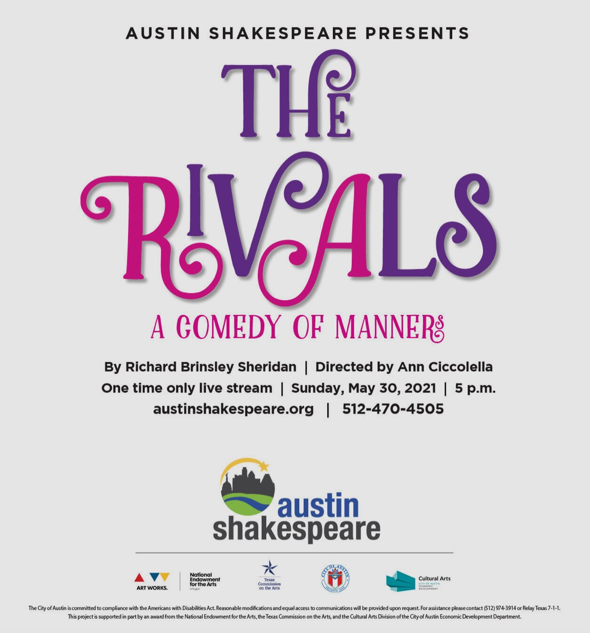 The Rivals by Austin Shakespeare