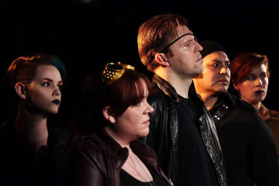 Brandi Stillwell, Morgan Clyde, Michael Burger, Robert Jerdee, Allie Smith (photo by Bryan Ortiz)