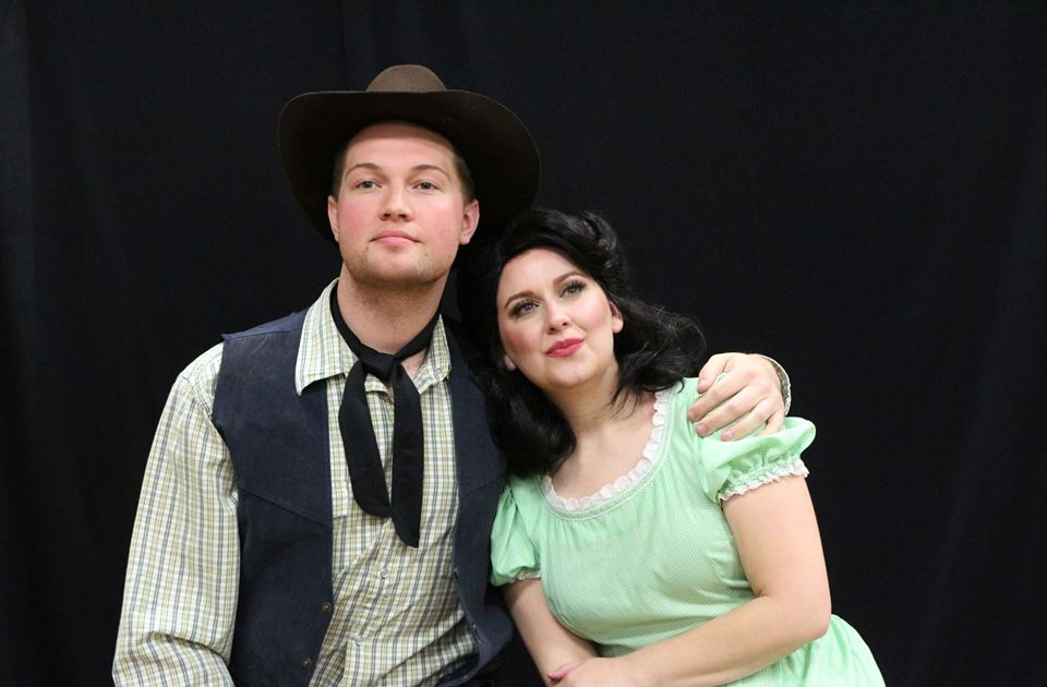 Chris Fuglestad, Amanda Golden (photo via Woodlawn Theatre)
