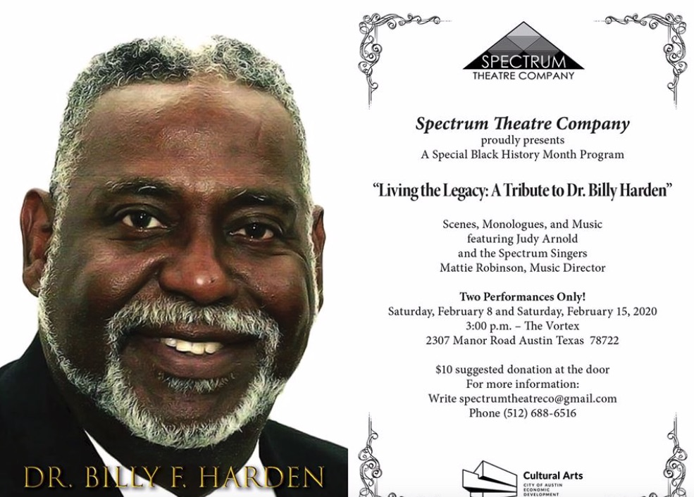 Living the Legacy - A Tribute to Dr. Billy Harden by Spectrum Theatre Company