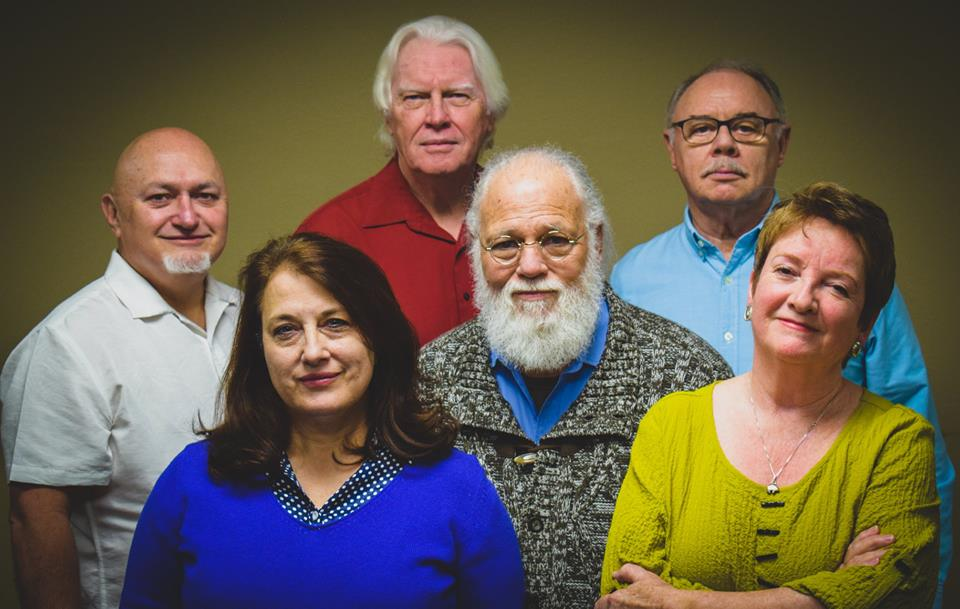 Mick Darcy, Ann Hulsman, Garry Peters, Tom Swift, David Jarrott, Janelle Buchanan (photo: Jarrott Productions)