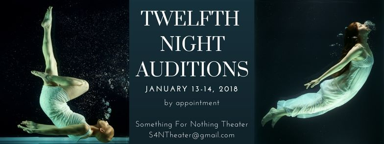Auditions for Twelfth Night, by Something for Nothing Theatre