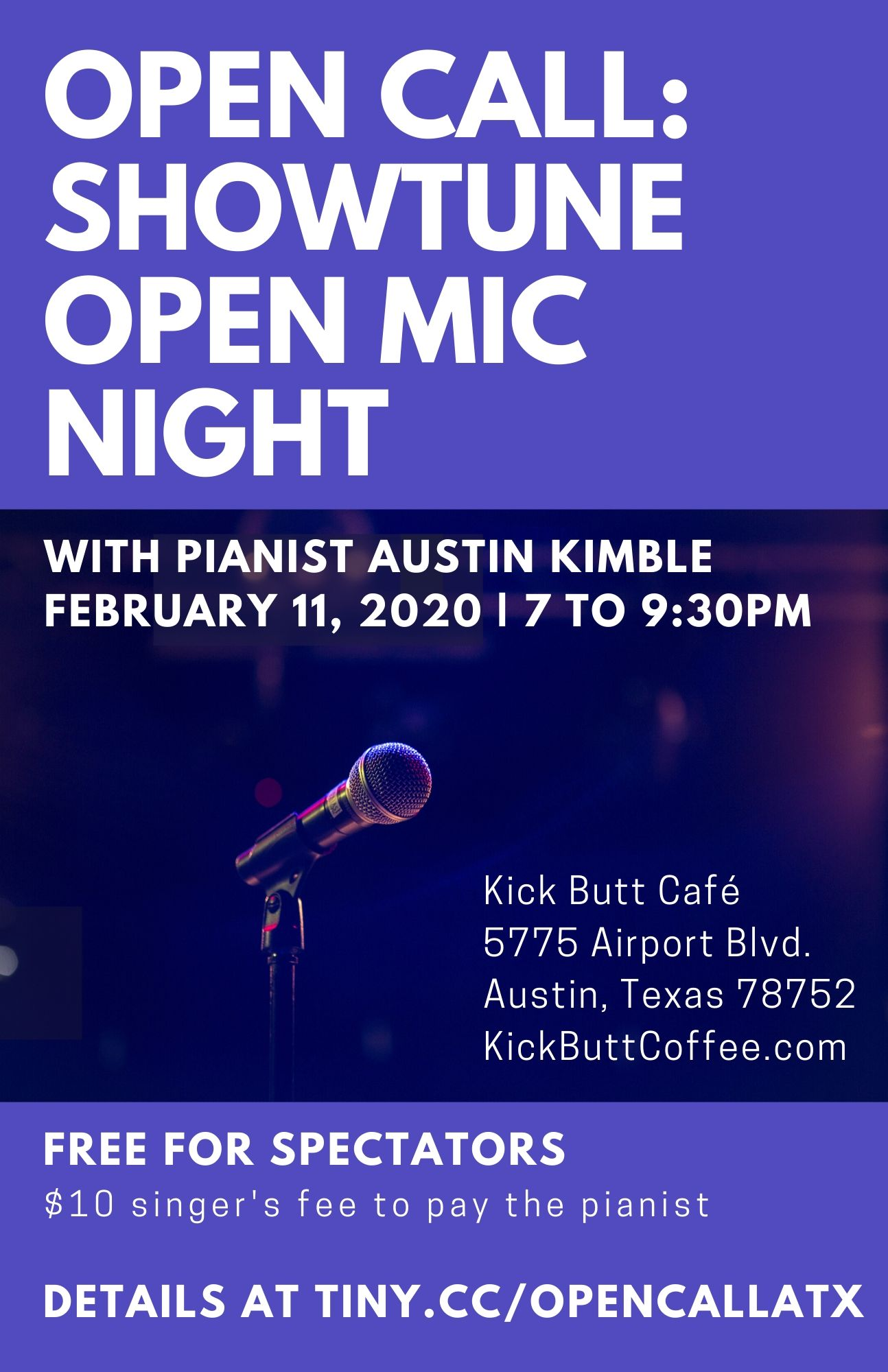 Open Call - Showtune Open Mic Night by Susan Johnston Taylor