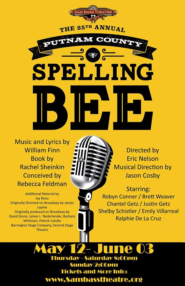The 25th Annual Putnam County Spelling Bee by Sam Bass Community Theatre