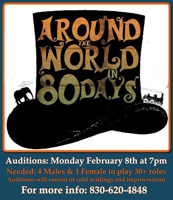 Auditions for Around the World in 80 Days, by Circle Arts Theatre