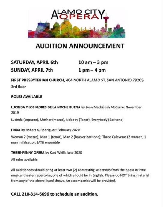 upcoming season by Alamo City Opera | CTX Live Theatre