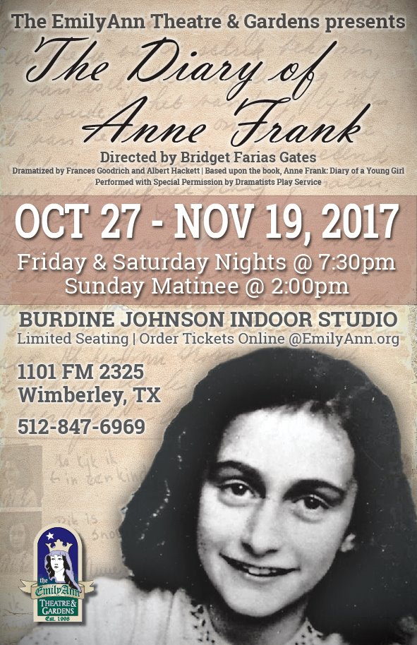 The Diary of Anne Frank by Emily Ann Theatre