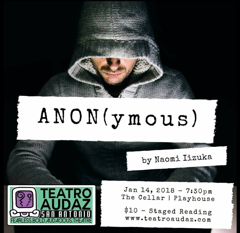 Auditions for ANON(ymous), Staged Reading by Teatro Audaz, San Antonio