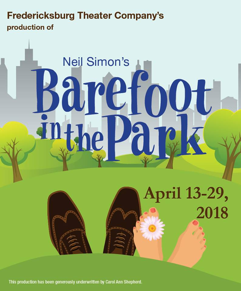 Barefoot in the Park by Fredericksburg Theater Company