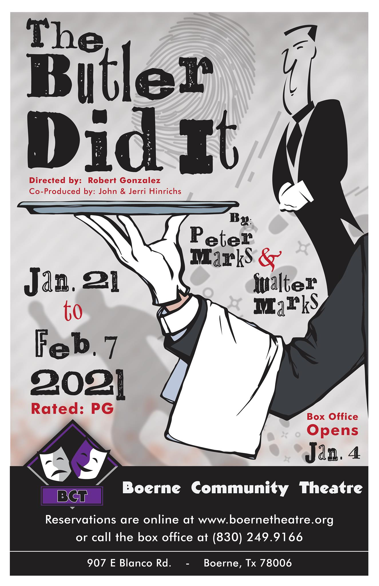 The Butler Did It by Boerne Community Theatre