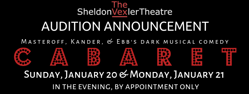 Auditions for Cabaret, by Vexler Theatre, San Antonio