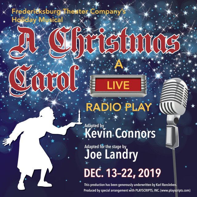 A Christmas Carol - a live radio play by Fredericksburg Theater Company
