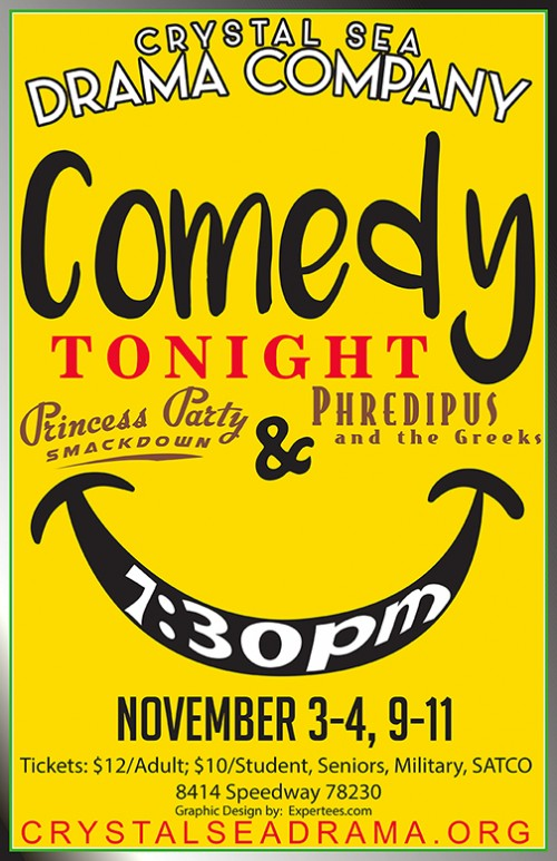 COMEDY TONIGHT 2017: Princess Party Smackdown AND Phredipus and the Greeks by Crystal Sea Drama Company