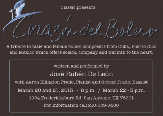 Corazón del Bolero by Classic Theatre of San Antonio