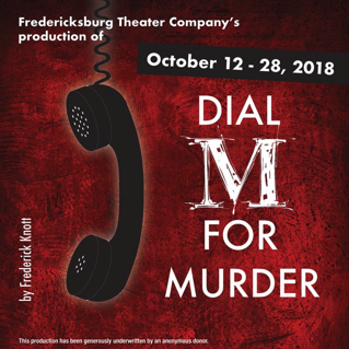 Auditions for Dial M for Murder, by Fredericksburg Theater Company