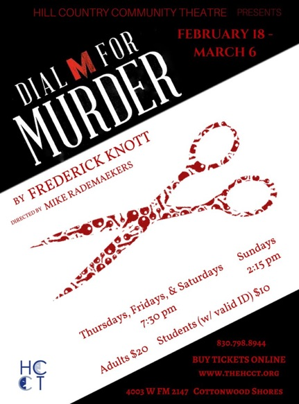 Dial M for Murder by Hill Country  Community Theatre (HCCT)