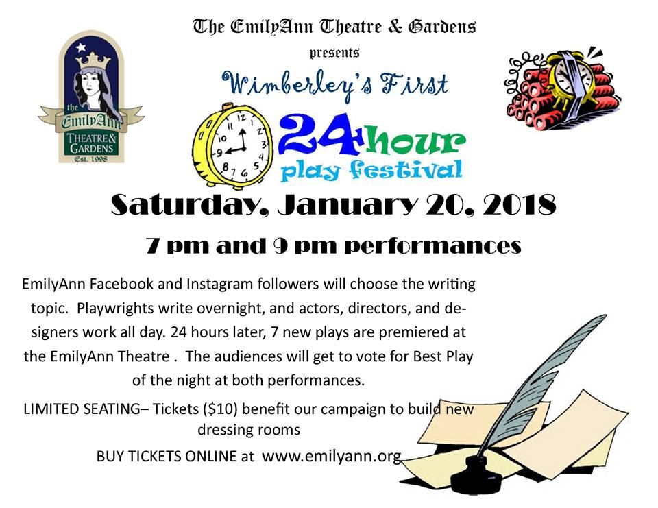 24-Hour Play Festival by Emily Ann Theatre