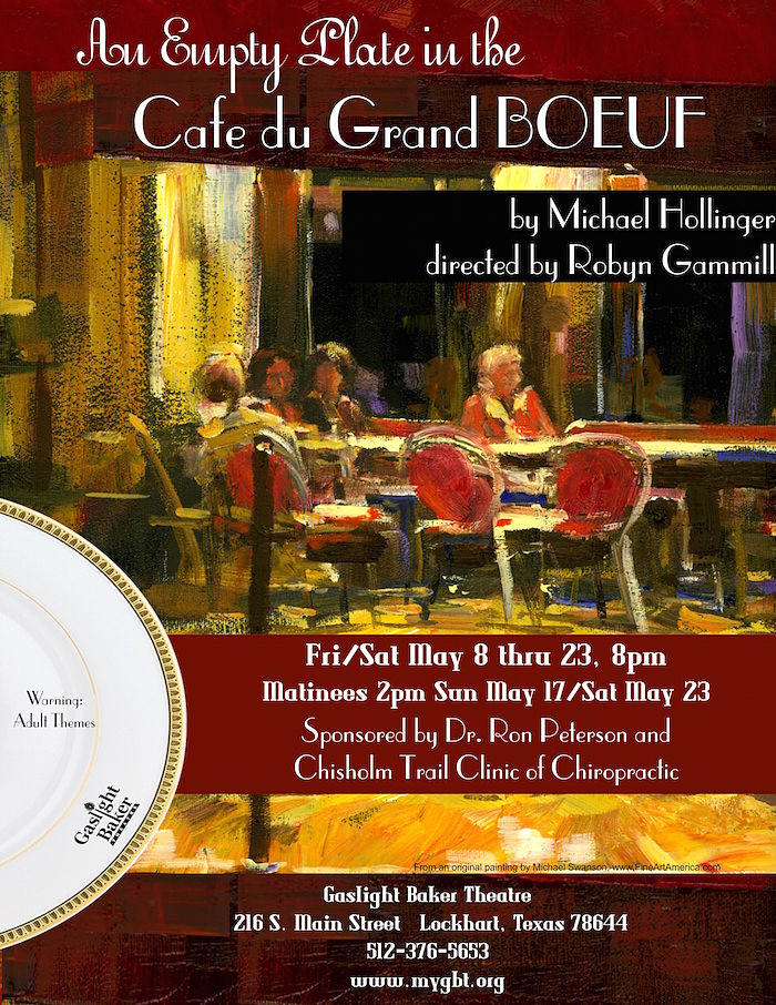 An Empty Plate in the Cafe du Grand Boeuf by Gaslight Baker Theatre