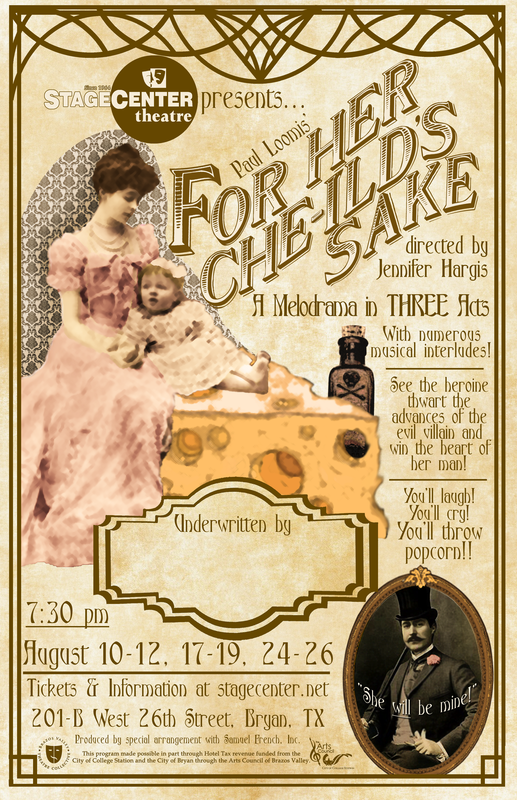 For Her Che-ild's Sake, melodrama by StageCenter Community Theatre