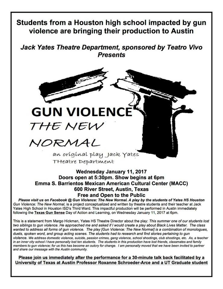 Gun Violence: The New Normal by Teatro Vivo