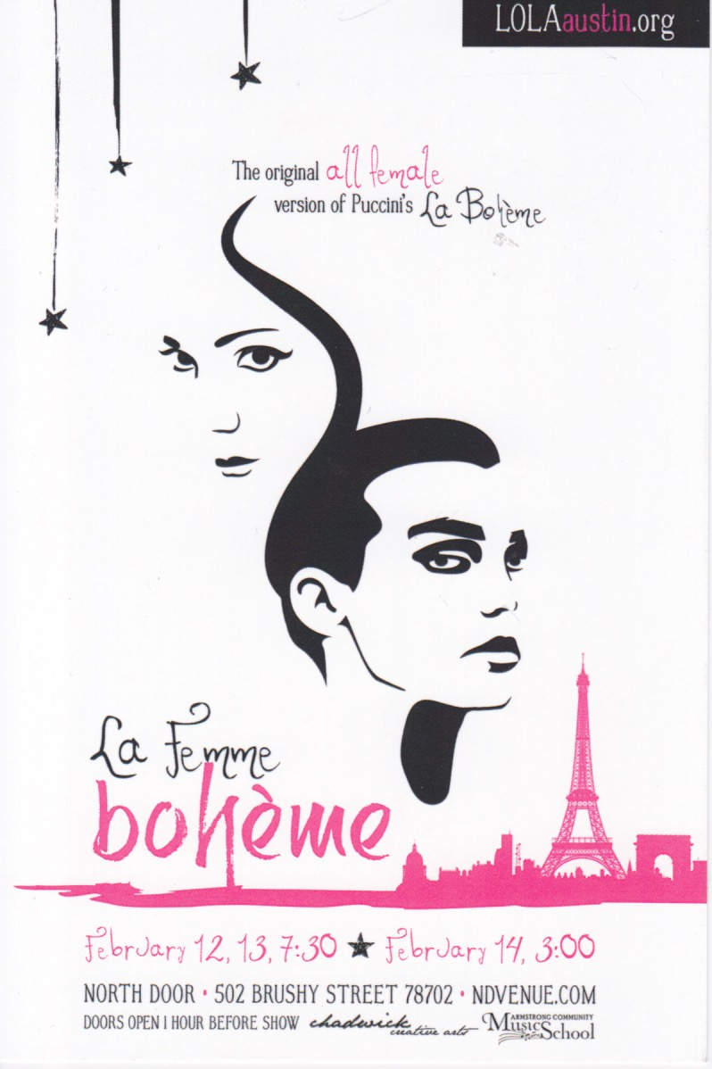 La Femme Bohème by Local Opera Local Artists - LOLA