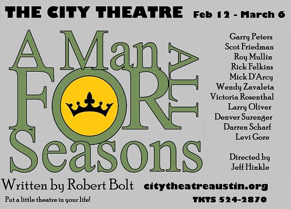A Man for All Seasons by City Theatre Company