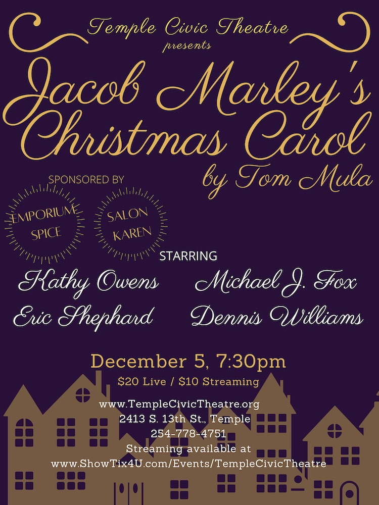 Jacob Marley's Christmas Carol by Temple Civic Theatre