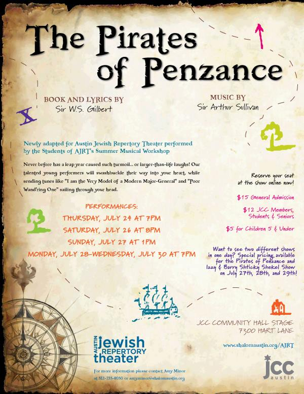 The Pirates of Penzance by Austin Jewish Repertory Theatre