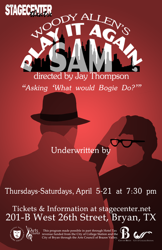 Auditions for Play It Again, Sam, by StageCenter Community Theatre, Bryan