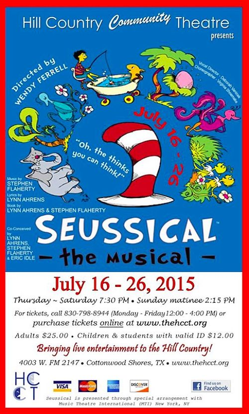 Seussical, the musical by Hill Country  Community Theatre (HCCT)