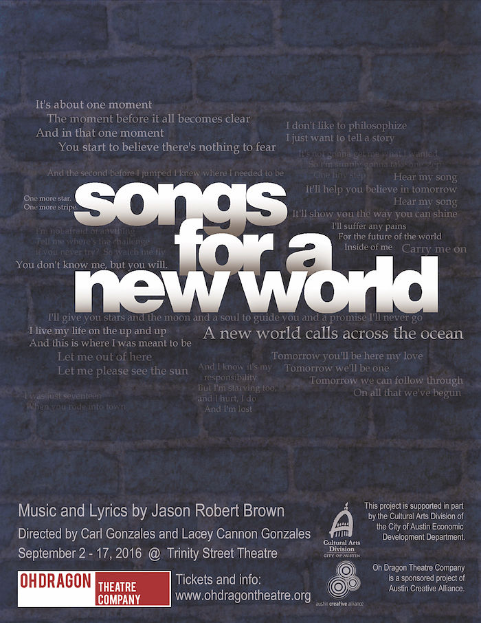 Songs for a New World by Oh Dragon Theatre Company