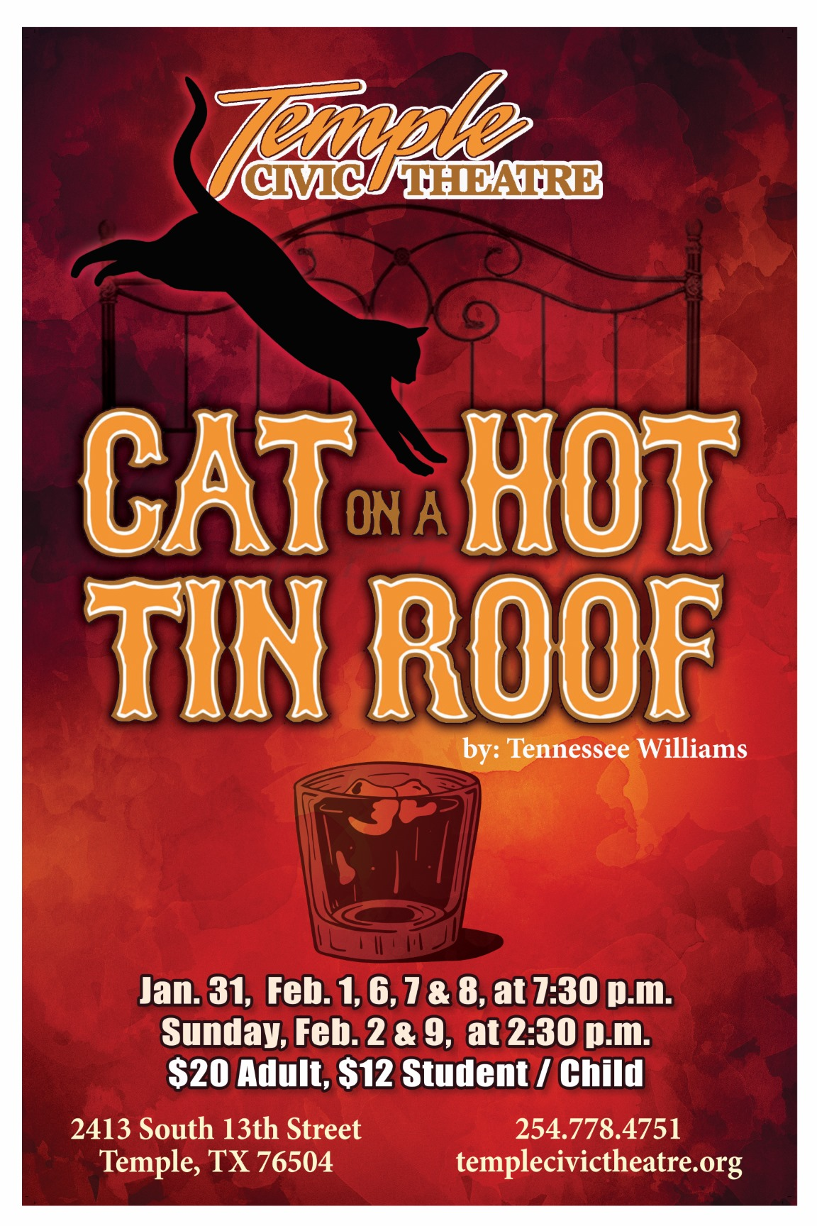 Cat on a Hot Tin Roof by Temple Civic Theatre