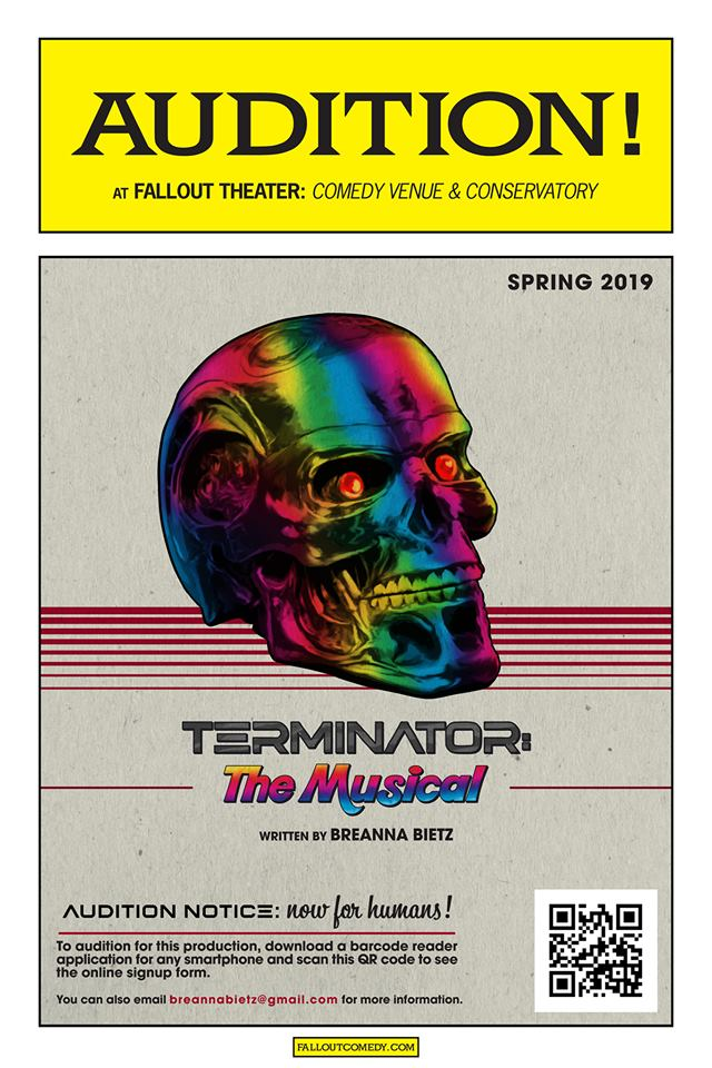 Auditions for Terminator, the musical, by Fallout Theatre