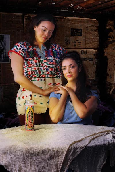 Karina Dominguez (seated), Giselle Marie- Muñoz (photo: GFT)