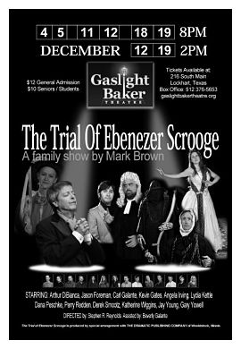 The Trial of Ebenezer Scrooge by Gaslight Baker Theatre