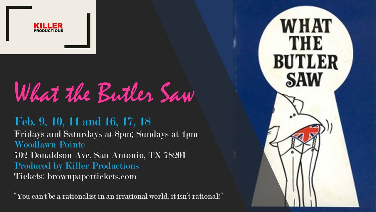 Auditions for What the Butler Saw, by Killer Productions