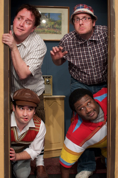 (clockwise) R. Michael Clinkscales D. Heath Thompson McArthur Moore  sc 1 st  CTX Live Theatre & Review: The Boys Next Door by City Theatre Company   CTX Live Theatre