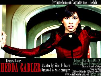 Hedda Gabler (adapted) by Palindrome Theatre (2010-2013)