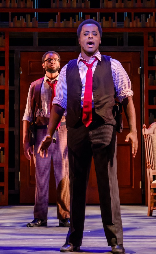 Ben Toomer as Coalhouse Walker, Jr. (photo by Texas State University)