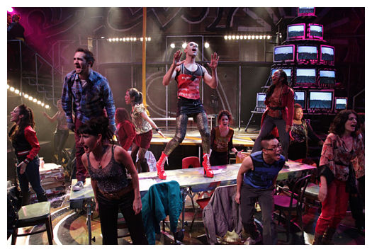 The cast of Rent (image: Kirk R. Tuck)