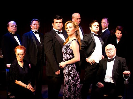Craig Kanne, Bernadette Nason, Steve Shearer, Brian Coughlin, Hildreth England, Michael Stuart, Stephen Mercantel, Christopher Loveless, Dirk van Allen, Laura Walberg (photo: Austin Playhouse)